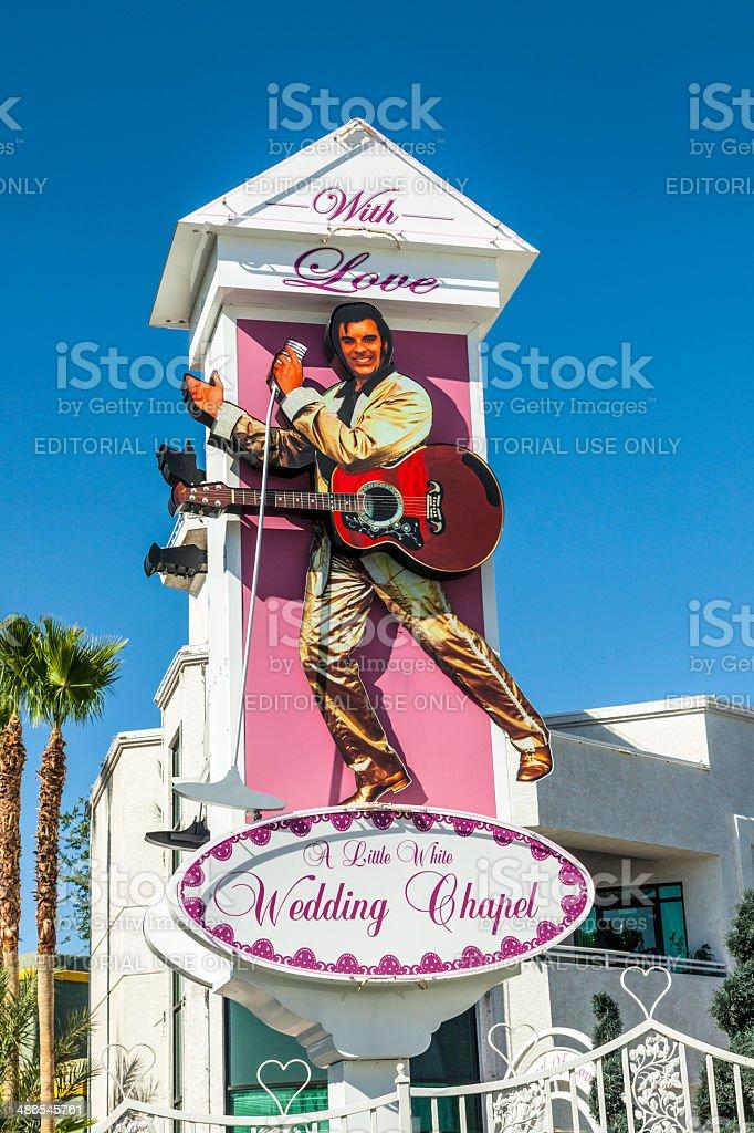 Little White Wedding Chapel.Little White Wedding Chapel In Las Vegas Stock Photo Download