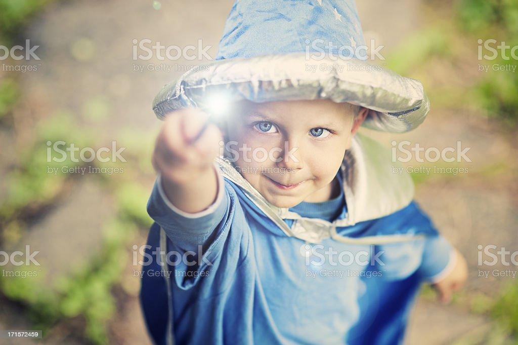 Little wizard stock photo