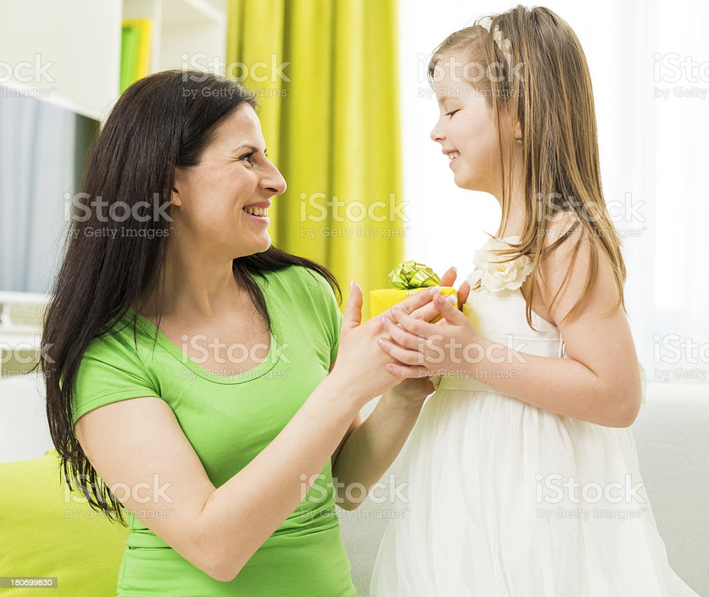 Little yellow gift royalty-free stock photo