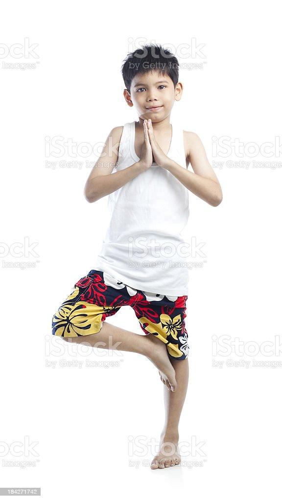 Little Yogi stock photo