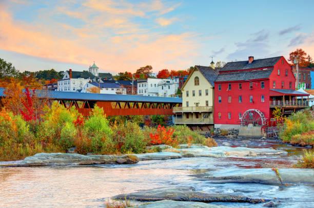 Littleton, New Hampshire stock photo