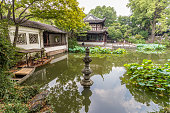Suzhou, China - August 11, 2017: The image shows the Lingering Garden in Suzhou, China