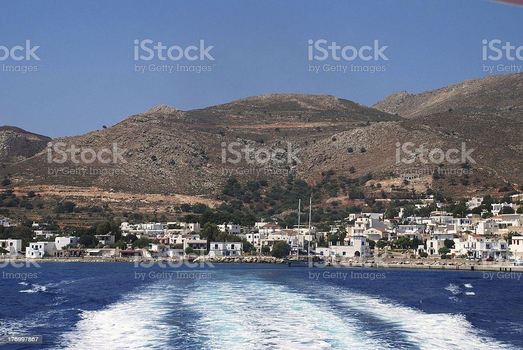 Livadia harbour, Tilos island royalty-free stock photo
