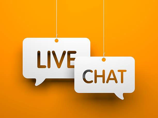 Live chat stock photo