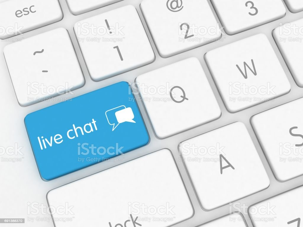 Live chat social media communication message stock photo