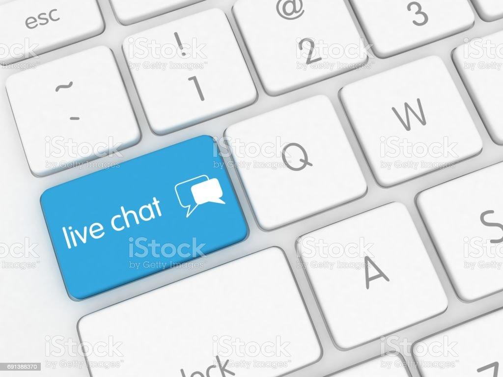 Mensagem de comunicação de mídia social de chat ao vivo - foto de acervo