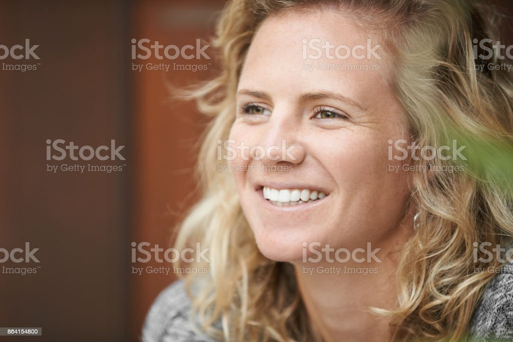 Live for the moments that make you smile royalty-free stock photo