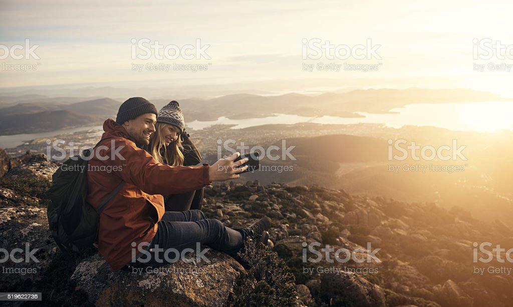 Live for the moments you can't put into words stock photo