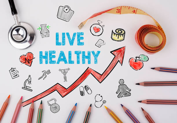 Live healthy concept. Healty lifestyle background stock photo