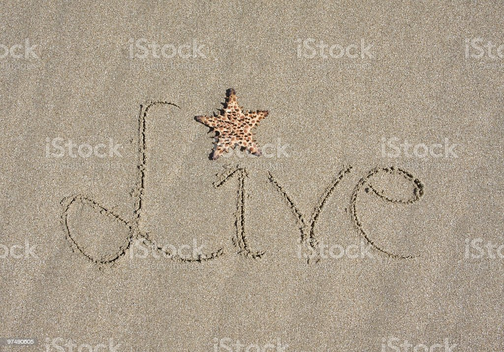 Live in Sand royalty-free stock photo