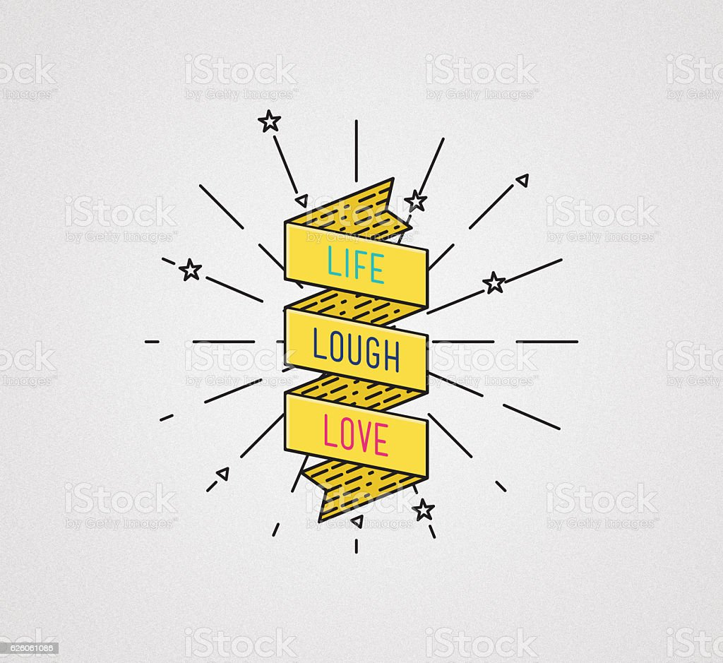 Live Laugh Love Inspirational Illustration Motivational Quotes Stock