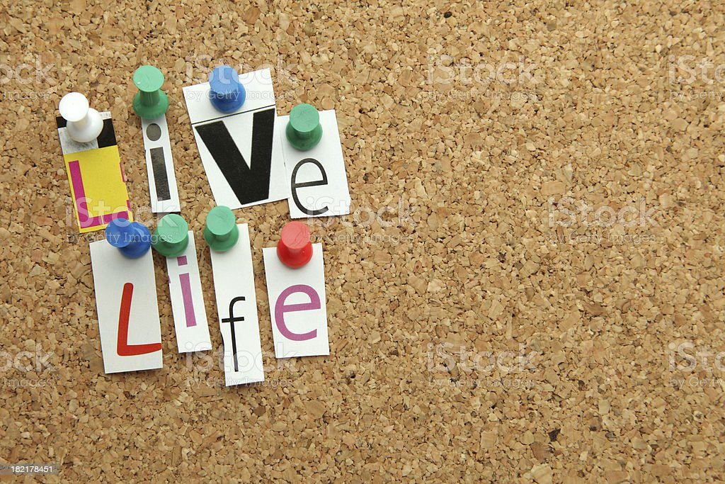 Live Life royalty-free stock photo
