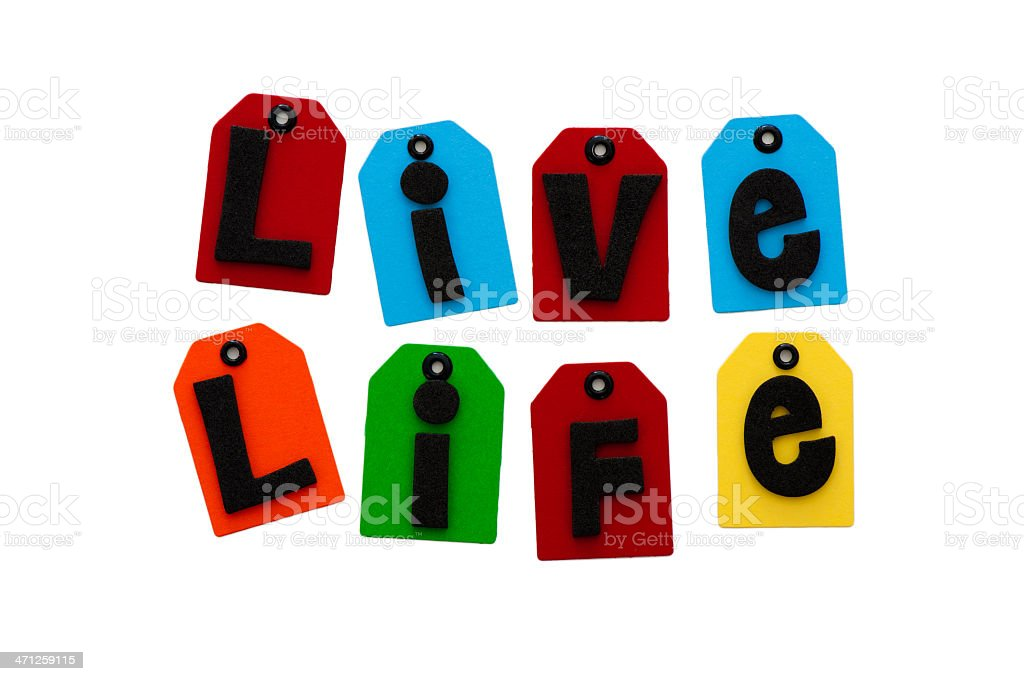 Live life spelled out royalty-free stock photo