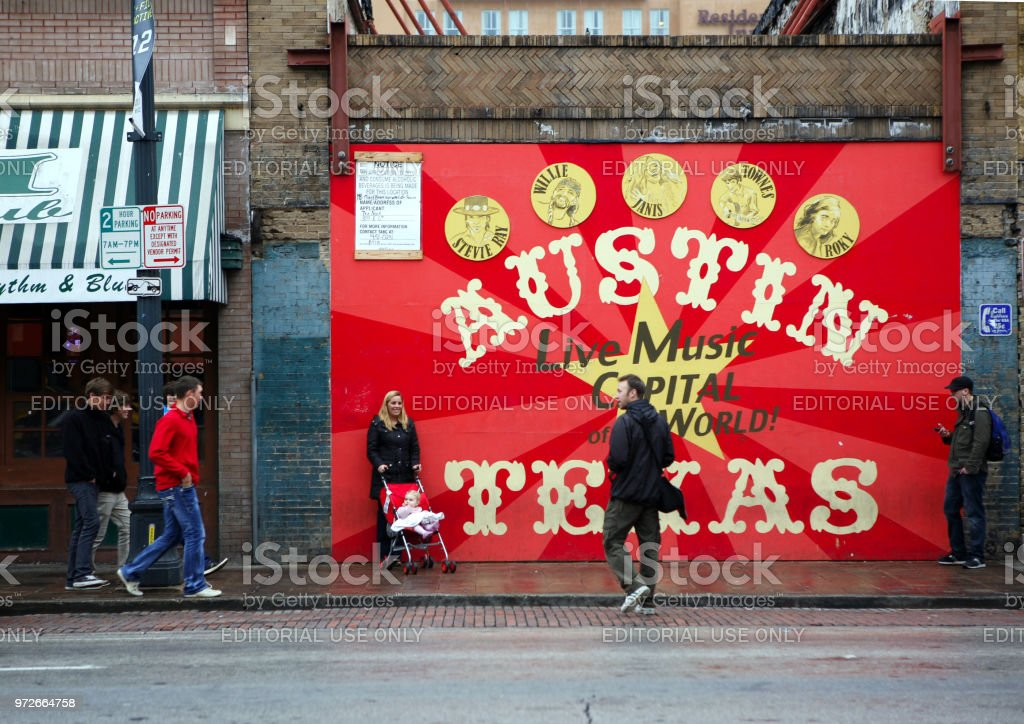 Live music capitol poster stock photo