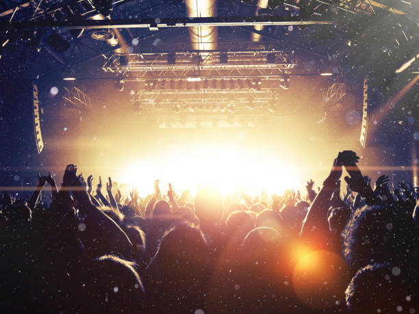 live-musik-publikum - musikfestival stock-fotos und bilder