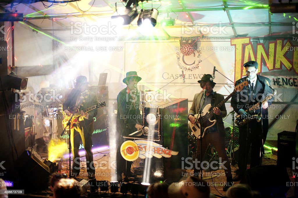 Live music event at night stock photo