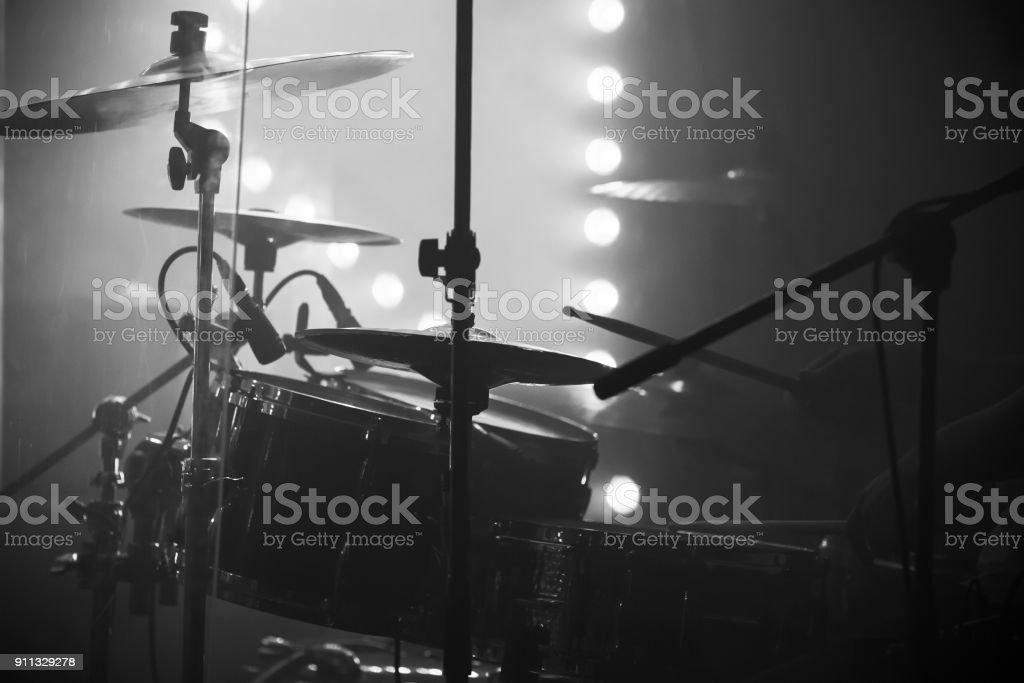 Live-Musik Foto, drum-Set mit Becken – Foto