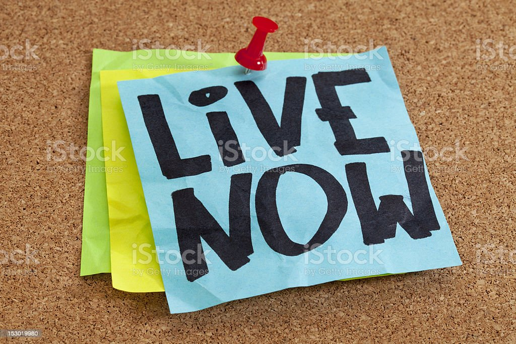 live now reminder royalty-free stock photo