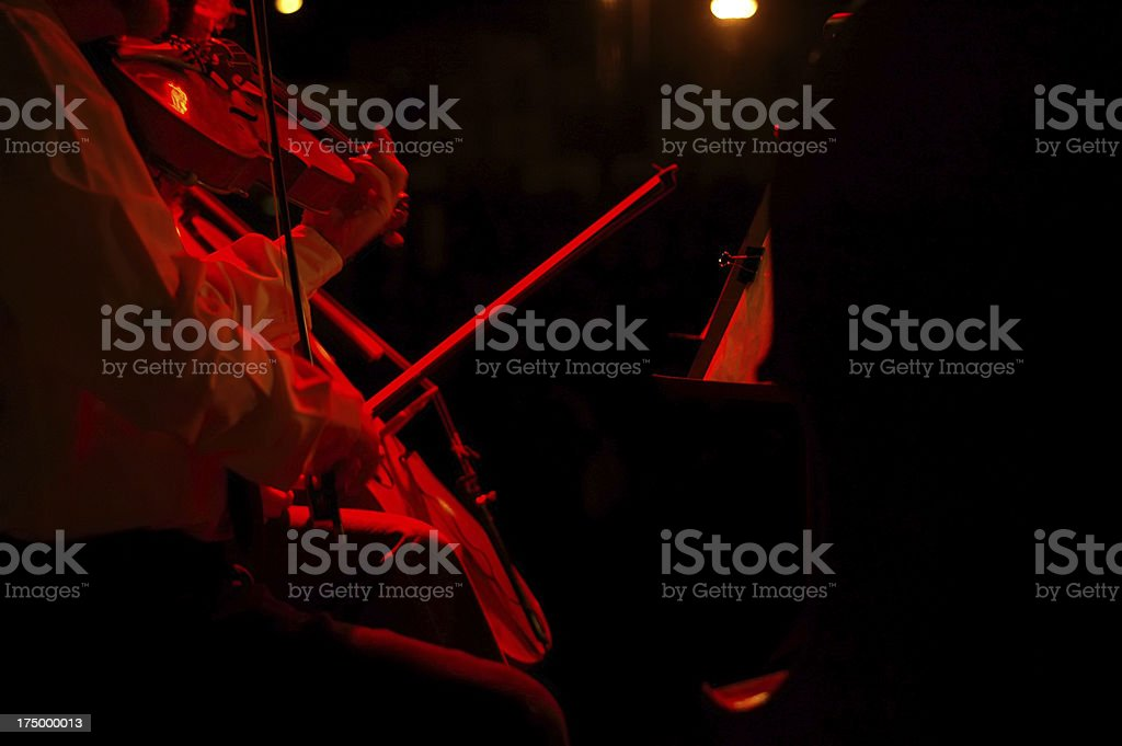 live on stage violin and violinist royalty-free stock photo