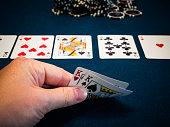 istock Live poker game in casino 1158859033