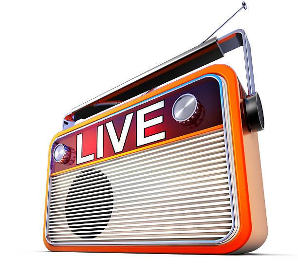 radio dal vivo - emissione radio televisiva foto e immagini stock