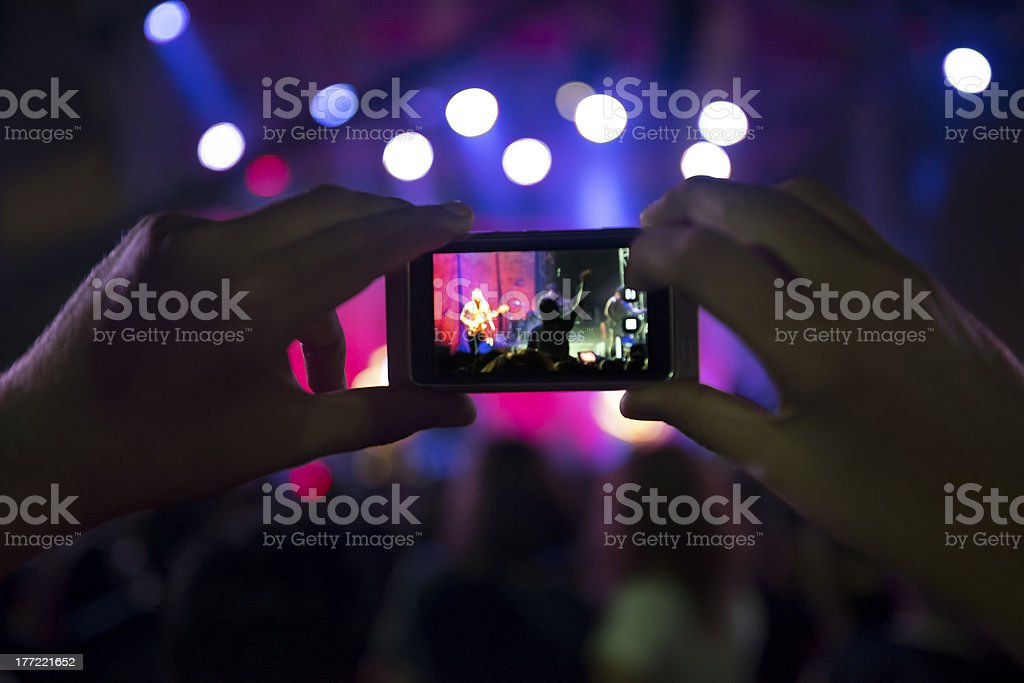 Live rock concert royalty-free stock photo