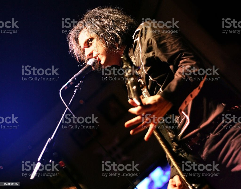 Live Rock Musician stock photo