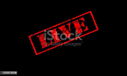 1056306726istockphoto live rubber stamp red stencil on a black background scratched 1053978038