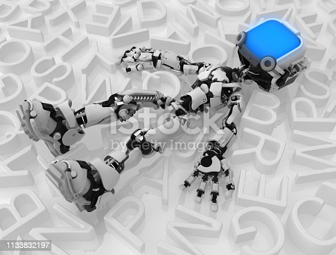istock Live Screen Robot, Among Text 1133832197