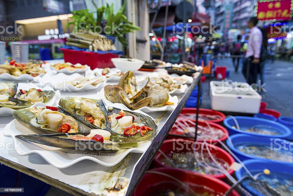 Live Sea Food on display. stock photo