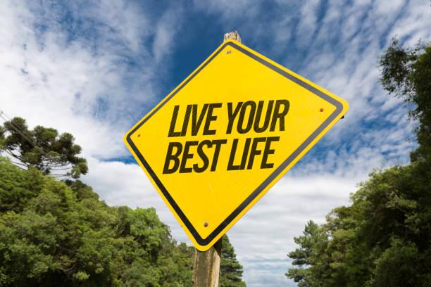 ihr beste leben - das leben genießen zitate stock-fotos und bilder