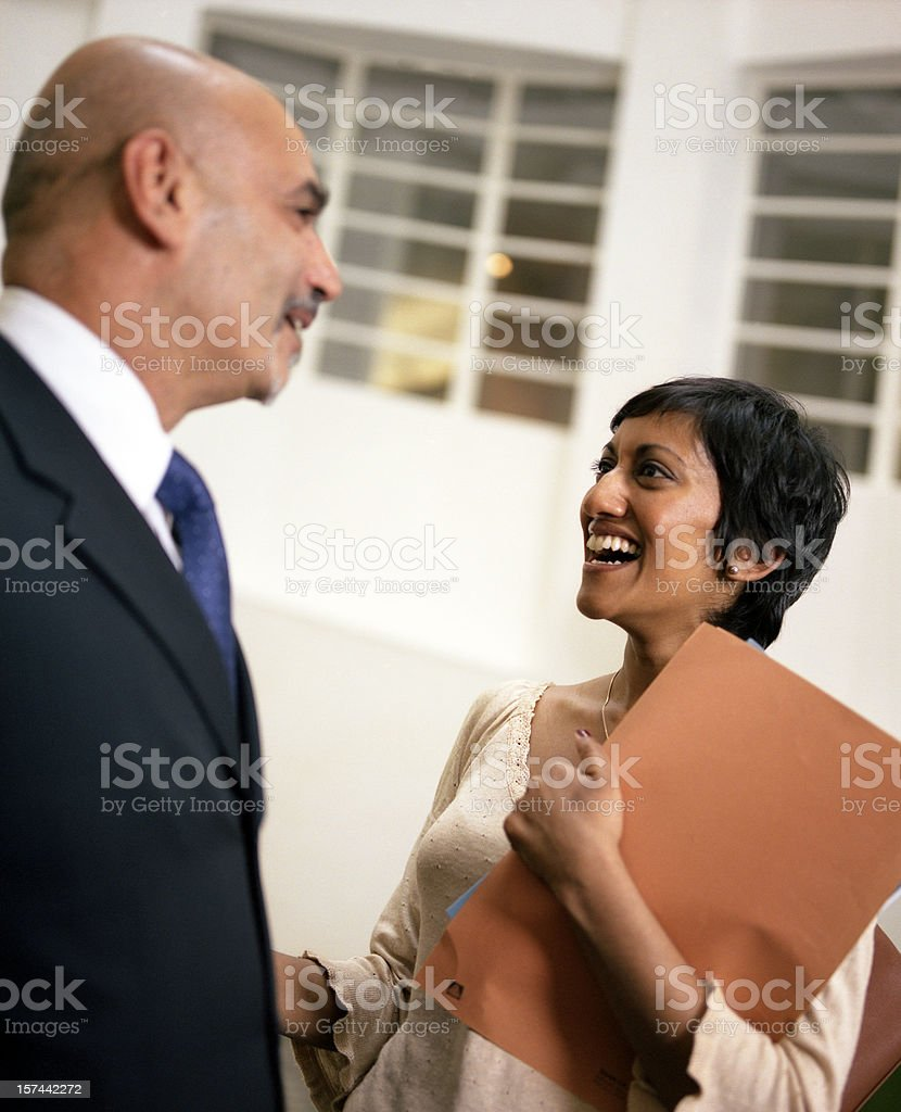 Lively Business Conversation royalty-free stock photo