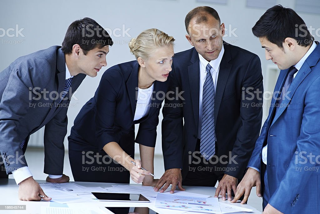 Lively discussion royalty-free stock photo