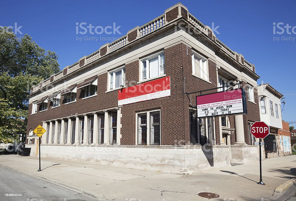 Lively Stone Apostolic Church of God, West Pullman, Chicago royalty-free stock photo