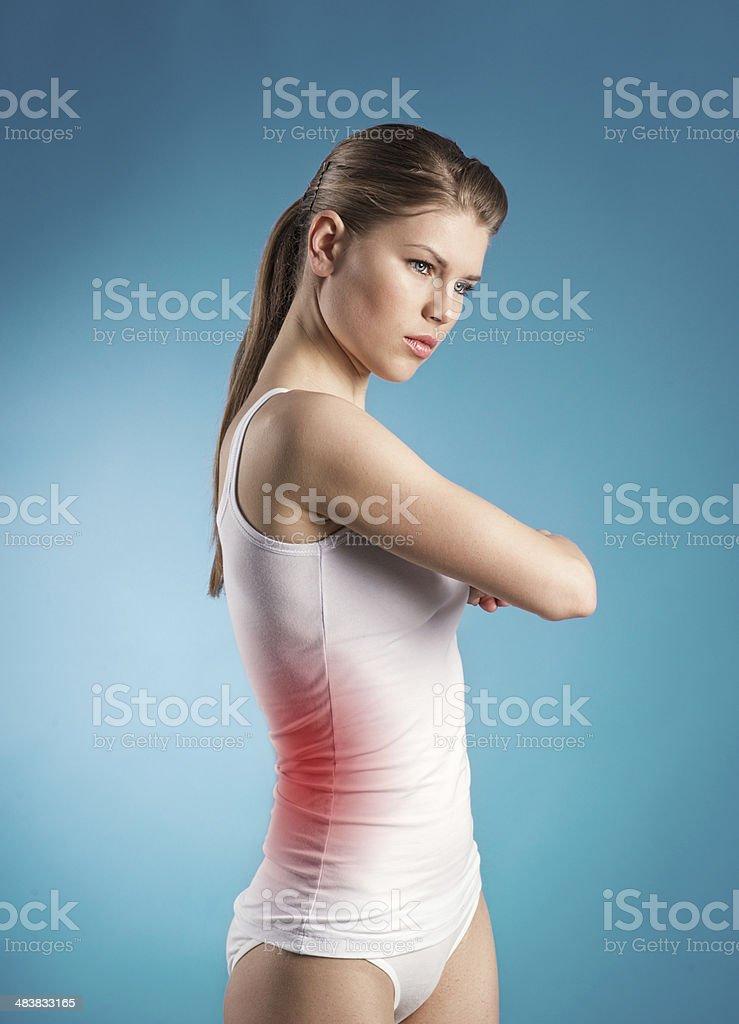 Liver ache stock photo