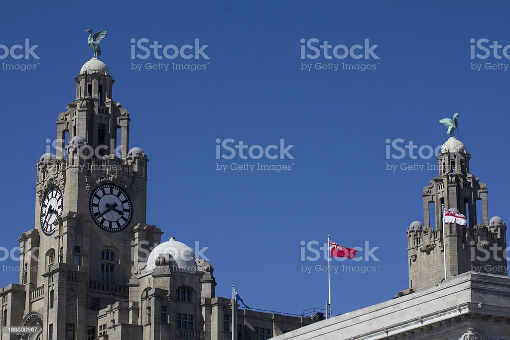 Liver Birds in Liverpool royalty-free stock photo