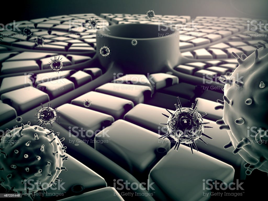 liver cells, viruses stock photo