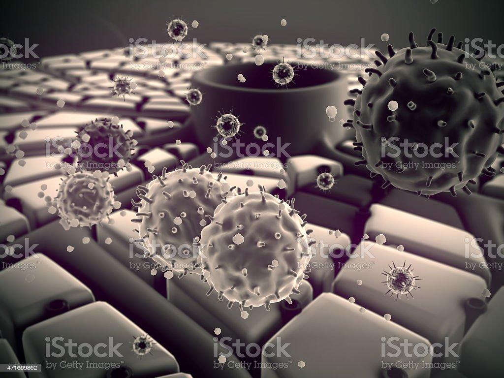 liver, viruses stock photo