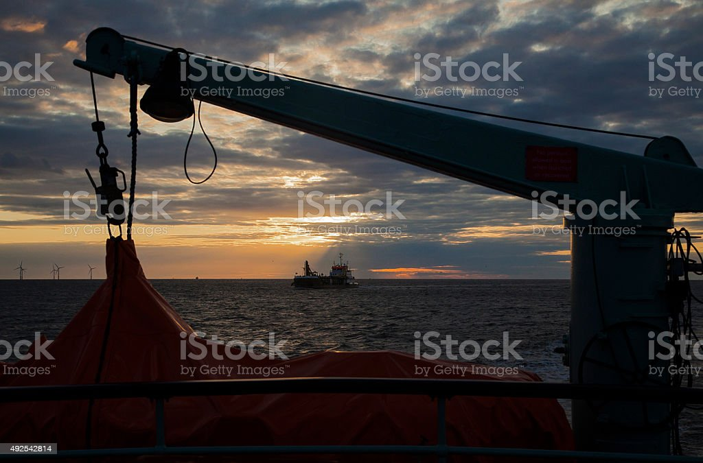 Liverpool Bay Silhouette royalty-free stock photo