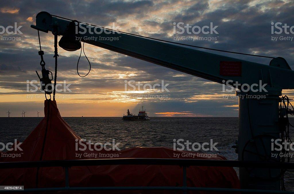 Liverpool Bay Silhouette stock photo