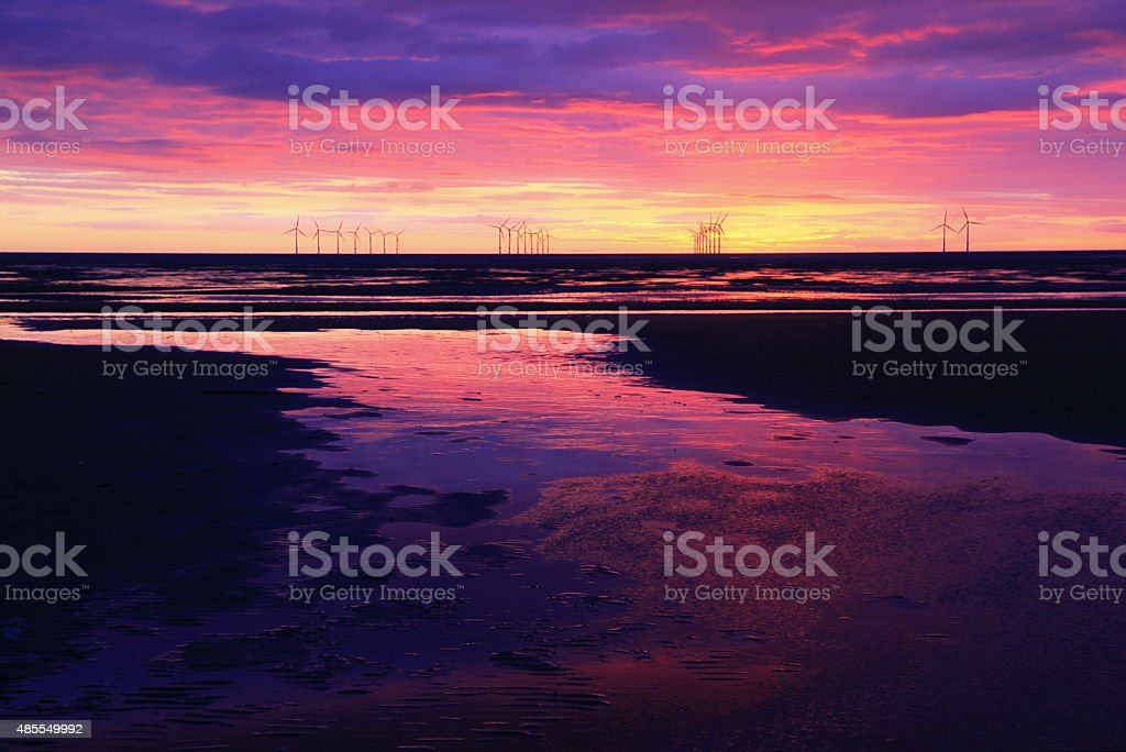 Liverpool Bay Sunset stock photo