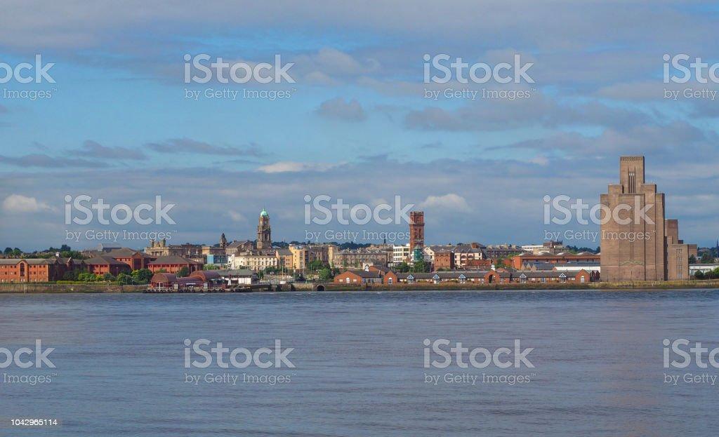 Liverpool Birkenhead waterfront stock photo