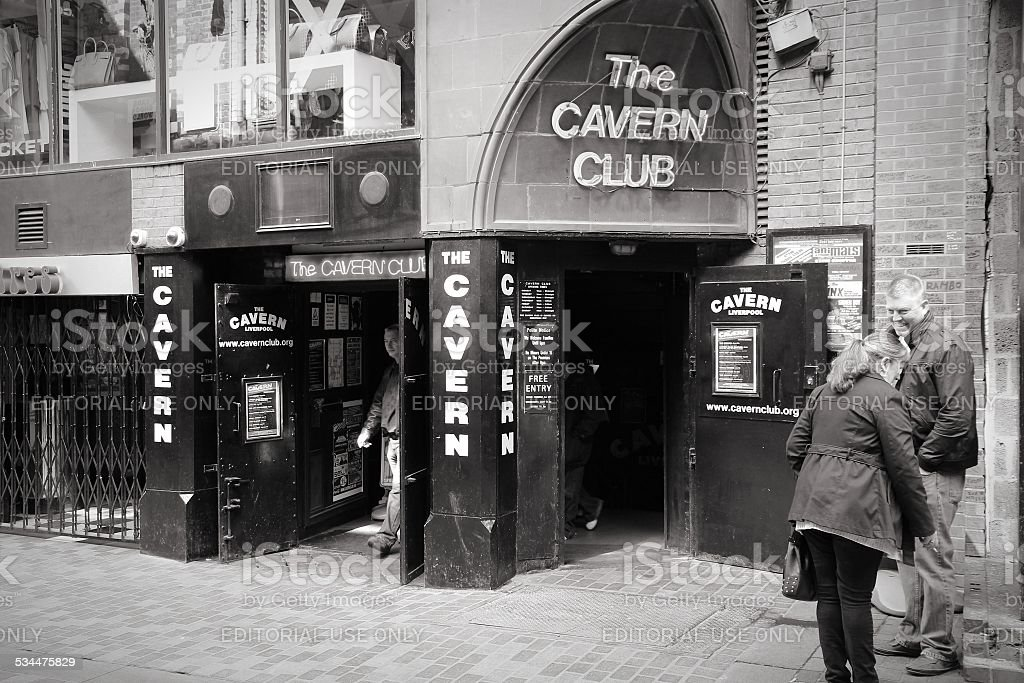 Liverpool preto e branco - foto de acervo