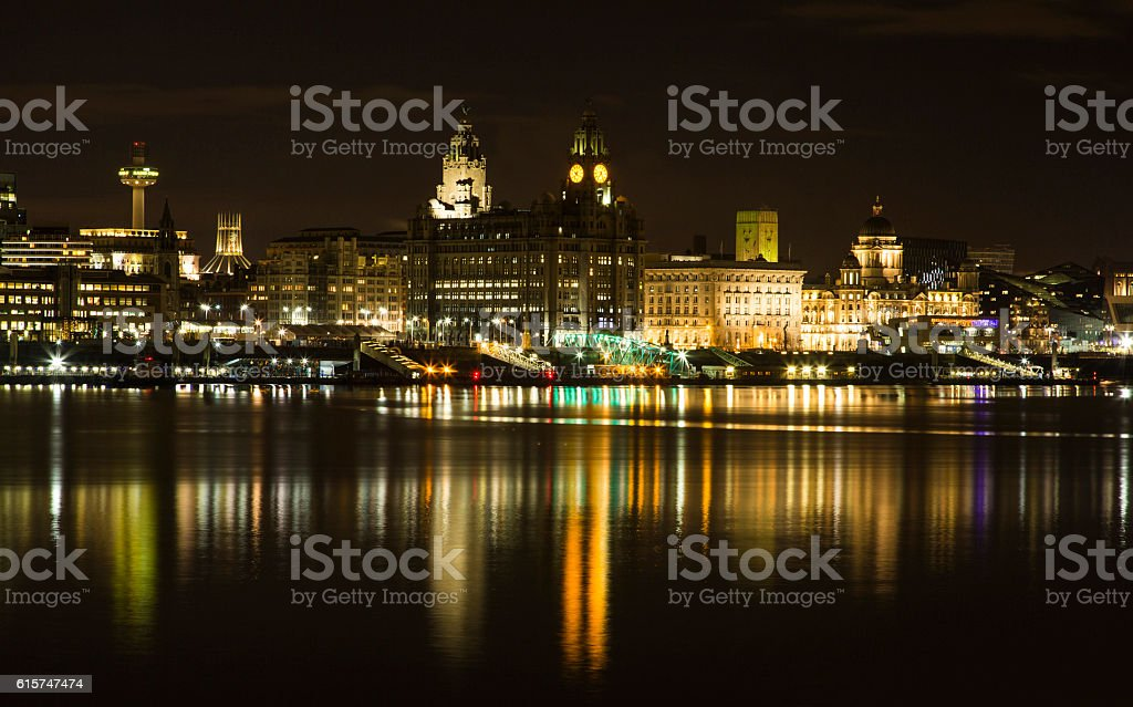 Liverpool Cityscape royalty-free stock photo