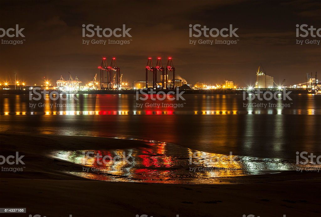 Liverpool Docks Reflections royalty-free stock photo