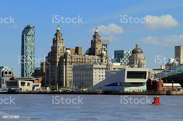 Liverpool Iconic Waterfront Stock Photo - Download Image Now