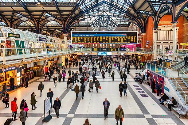 Liverpool station interior view. stock photo