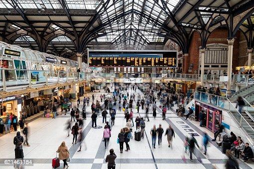 istock Liverpool Street Station in London, United Kingdom 621461184