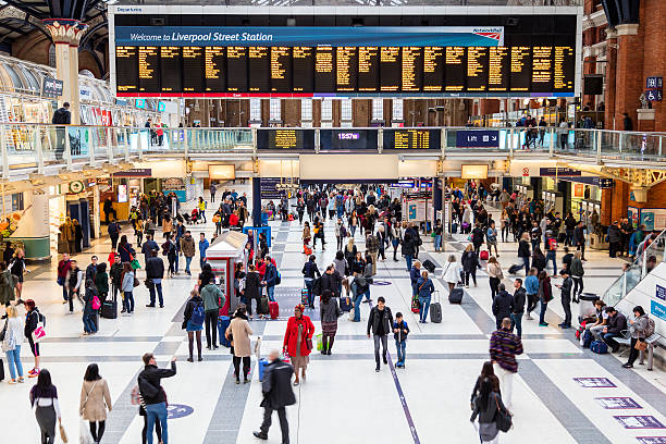 Liverpool Street Station in London, United Kingdom stock photo