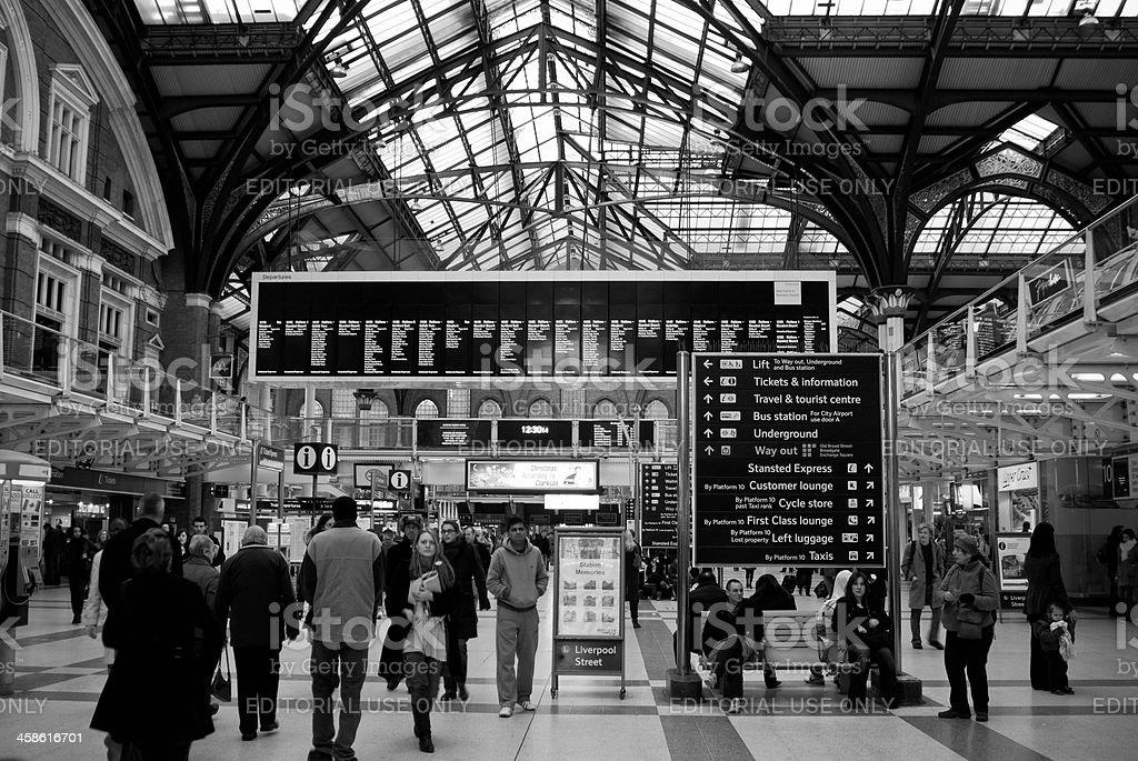 Liverpool Street train station - London, UK stock photo
